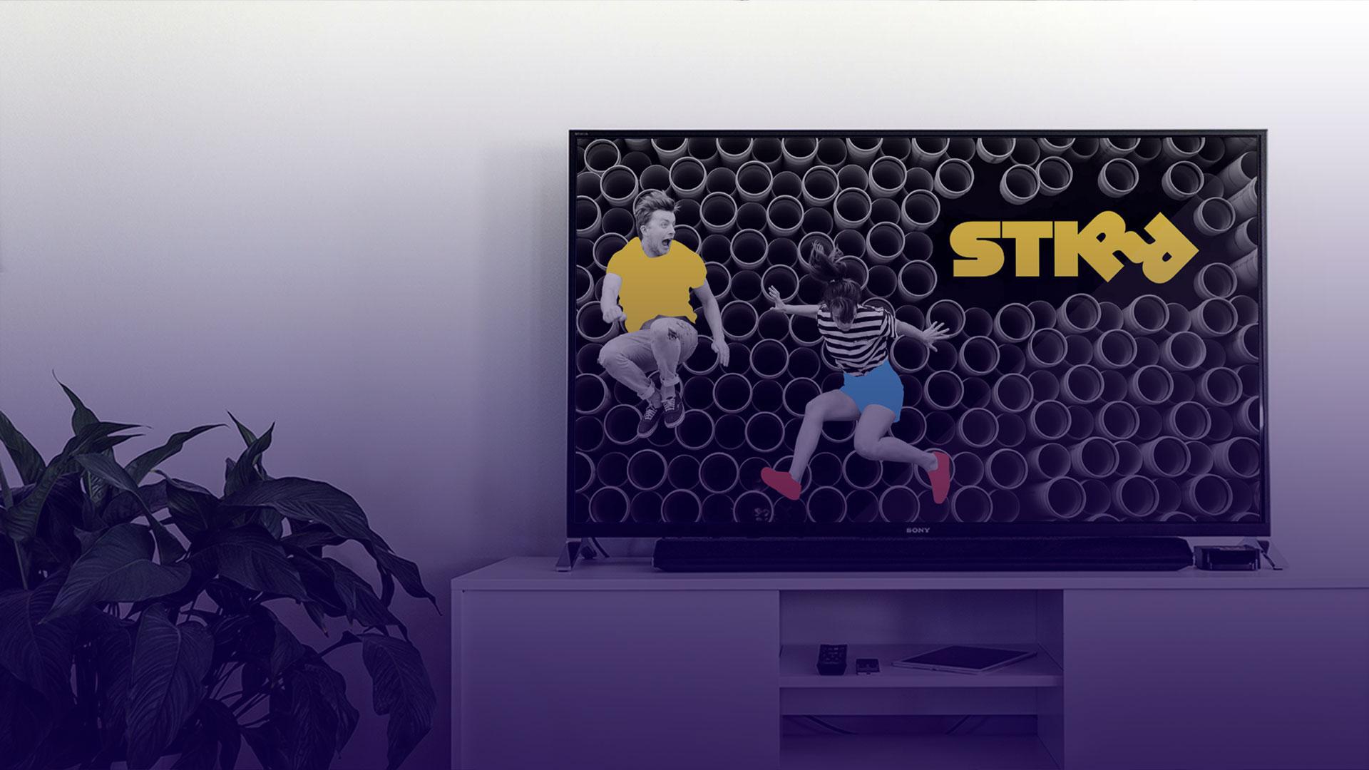 STIRR OTT App Visuals & Ad Campaign