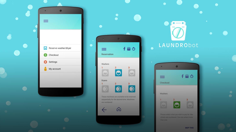 Laudrobot App UX + UI