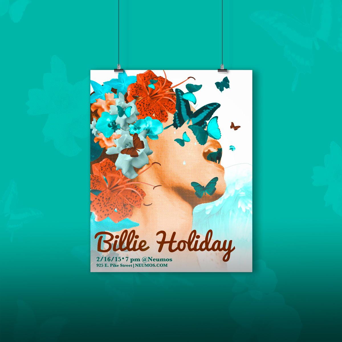 Billie Holiday Gig Poster